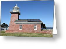 Santa Cruz Lighthouse Surfing Museum California 5d23942 Greeting Card by Wingsdomain Art and Photography