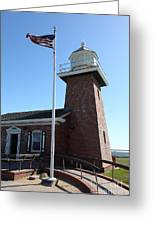 Santa Cruz Lighthouse Surfing Museum California 5d23948 Greeting Card by Wingsdomain Art and Photography