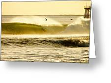 Santa Cruz Surfers Dream Greeting Card by Paul Topp