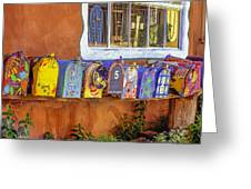 Santa Fe Mailboxes 2 Greeting Card by Wendell Thompson
