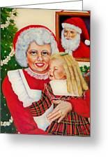 Santa Greeting Card by Joni McPherson