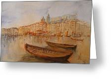 Santa Margherita Ligure Greeting Card by Juan  Bosco