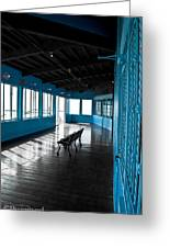 Santa Monica Pier Blue Room Greeting Card by Guinapora Graphics