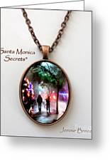 Santa Monica Secrets-custom Pendant Greeting Card by Jennie Breeze