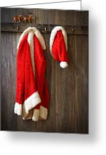 Santa's Coat Greeting Card by Amanda And Christopher Elwell