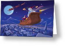 Santa's Helper Greeting Card by Michael Humphries