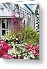 Santuary Garden Greeting Card by Judy Via-Wolff