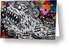 Sao Paulo Graffiti VII Greeting Card by Julie Niemela