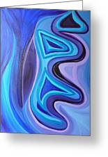 Sapphire Passion - Luminescent Light Greeting Card by Daina White