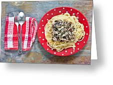 Sardines And Spaghetti Greeting Card by Tom Gowanlock