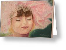 Sassy in Tulle Greeting Card by Marna Edwards Flavell