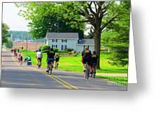 Saturday Bike Ride Greeting Card by Tina M Wenger