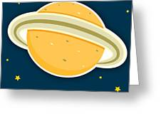 Saturn Greeting Card by Christy Beckwith