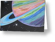 Saturn Greeting Card by Evie Giaconia