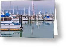 Sausalito Harbor California Greeting Card by Marianne Campolongo