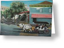 Savannah City Market Greeting Card by Jude Darrien