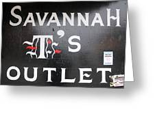 Savannah T's Outlet Greeting Card by Joseph C Hinson Photography