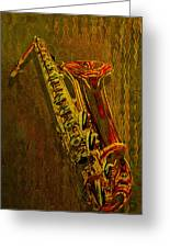 Sax Greeting Card by Jack Zulli
