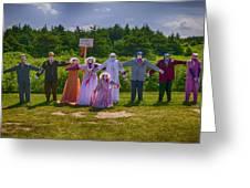 Scarecrow Wedding Greeting Card by Garry Gay