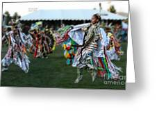 Scarf Fancy Dancer Greeting Card by Scarlett Images Photography