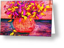 Scattered Petals Impression Greeting Card by Anne-Elizabeth Whiteway