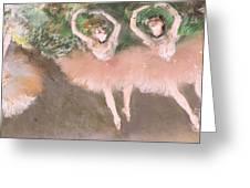 Scene De Ballet Greeting Card by Edgar Degas
