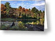 Scenic Autumn At Oakley's Greeting Card by Christina Rollo