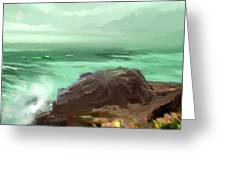 Scenic Pacific Greeting Card by Dale Stillman