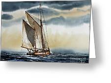 Schooner Greeting Card by James Williamson