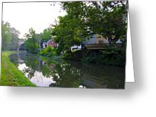 Schuylkill Canal Mont Clare Greeting Card by Bill Cannon