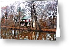Schuylkill Canal Port Providence Greeting Card by Bill Cannon