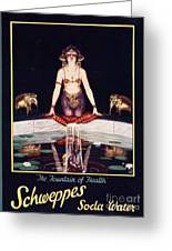 Schweppes 1920s Uk Soda Water Greeting Card by The Advertising Archives