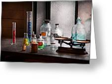 Science - Chemist - Chemistry Equipment  Greeting Card by Mike Savad