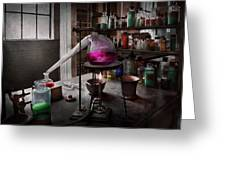 Science - Chemist - Chemistry For Medicine  Greeting Card by Mike Savad
