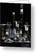 Science Lab Chemistry Greeting Card by Paul Ward