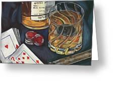 Scotch And Cigars 4 Greeting Card by Debbie DeWitt