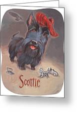 Scottie's Beaming Greeting Card by Shawn Shea