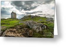 Scottish Borders - Smailholm Tower Greeting Card by Matt  Trimble