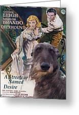 Scottish Deerhound Art - A Streetcar Named Desire Greeting Card by Sandra Sij