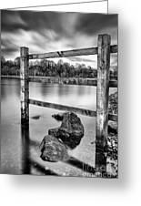 Scottish Loch With Fence Greeting Card by John Farnan