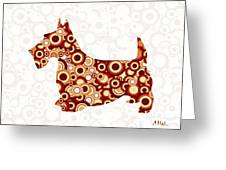 Scottish Terrier - Animal Art Greeting Card by Anastasiya Malakhova