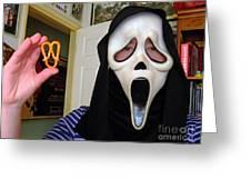 Scream And The Scream Pretzel Greeting Card by Jim Fitzpatrick