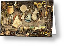 Sculptors Workbench Greeting Card by Ron Regalado
