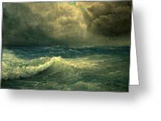 Sea And Sky Greeting Card by Mikhail Savchenko