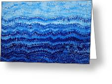 Sea And Sky Original Painting Greeting Card by Sol Luckman