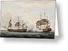 Sea Battle Greeting Card by Francis Holman