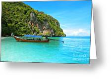 Sea Beautiful And Mountains Greeting Card by Boon Mee
