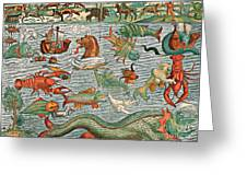 Sea Monsters 1544 Greeting Card by Photo Researchers
