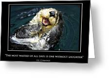 Sea Otter Motivational  Greeting Card by Fabrizio Troiani