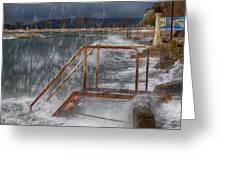 Sea Stairs Greeting Card by Mislav Glibota